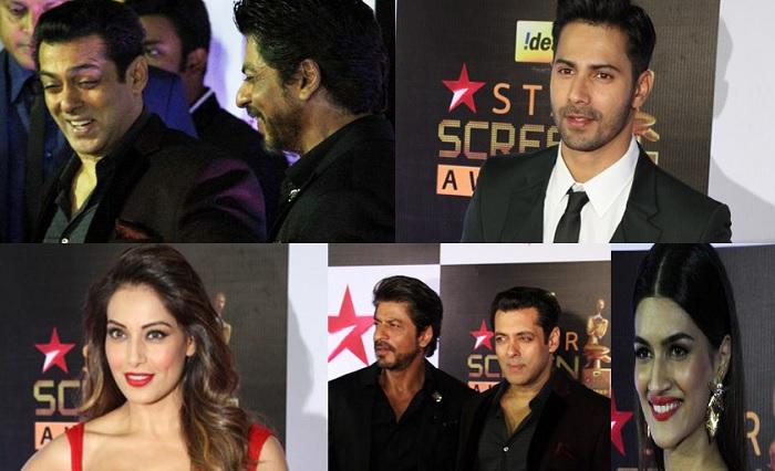 Shah Rukh Khan, Salman Khan, Varun Dhawan, Bipasha Basu At Red Carpet Of Star Screen Awards – IN PICS