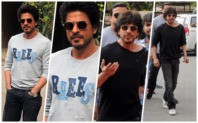 Actor Shahrukh Khan promotes his upcoming film 'Raees'