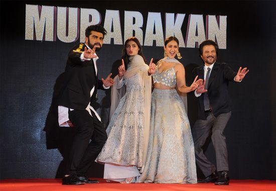 Arjun Kapoor Ileana DCruz And Athiya Shetty With Anil Kapoor