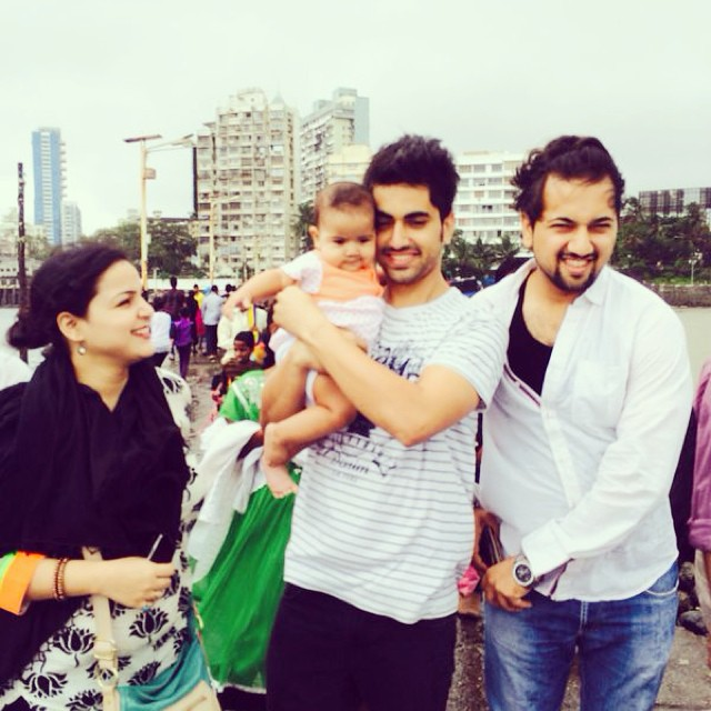 Zain Imam With His Family