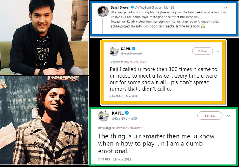 In An Open Dispute! - Kapil Sharma And Sunil Grover's Verbal