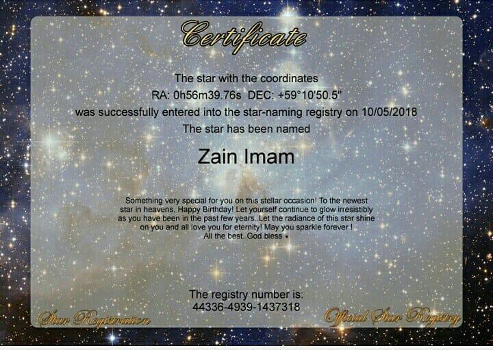 Naamkarann Stars Zain Imam And Aditi Rathore Get STARS NAMED
