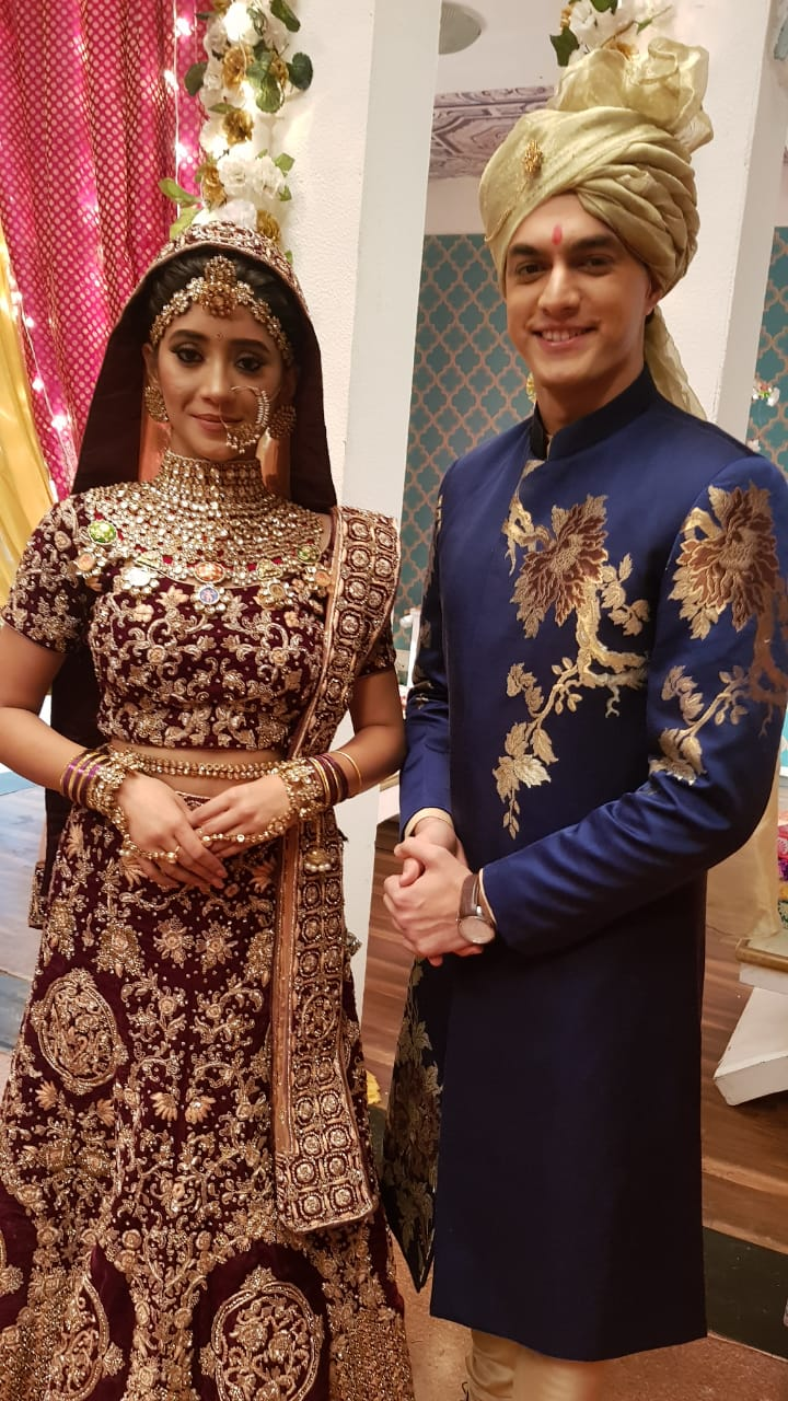 Shivangi Joshi And Mohsin Khan As Naira And Kartik In Yeh Rishta Kya Kehlata Hai
