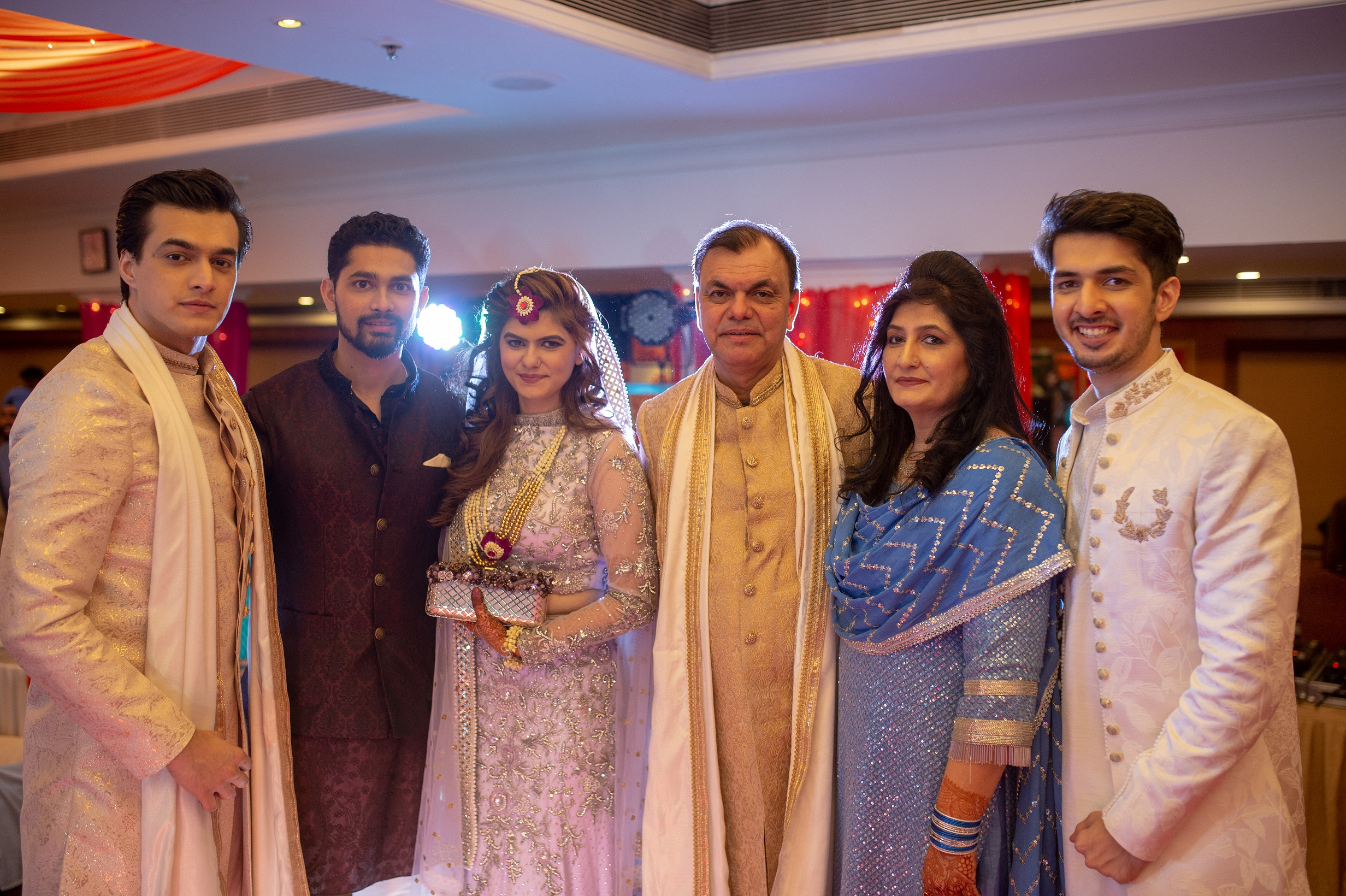 Mohsin Khan With His Family