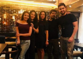 Zain Imam And Shrenu Parikh With Team