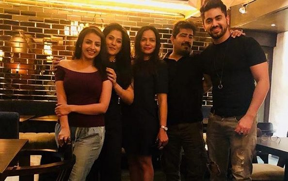 Zain Imam And Shrenu Parikh With Team