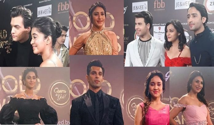 TV Actors At Gold Awards 2019