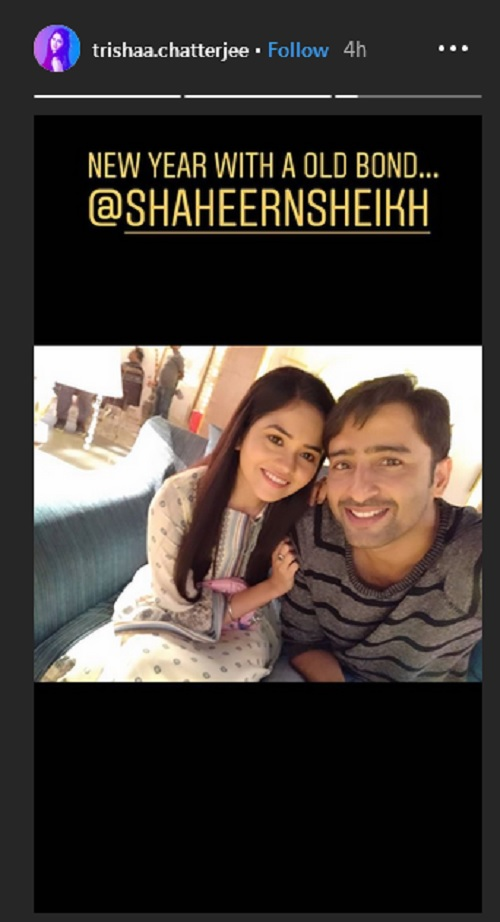 Shaheer Sheikh And Trisha Chatterjee In Instagram Story