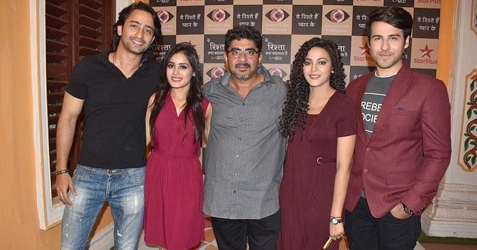 Shaheer Sheikh And Rhea Sharma With Rajan Shahi, Ritvik Arora And Kaveri Priyam