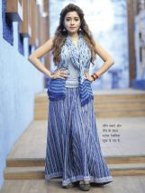 long skirt with top and stoll