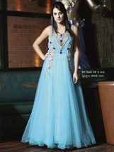 Beautiful fiori gowns decorated with heavy silver work