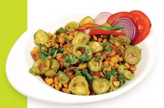 food and recipe in hindi karela with chana dal