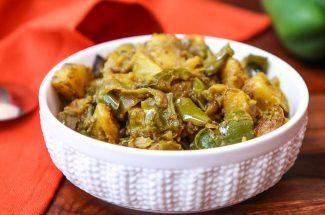 food and recipe in hindi shimla mirch ke kofte