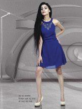 smart shori midi of blue color