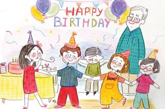 hindi story for kids surprise birthday party