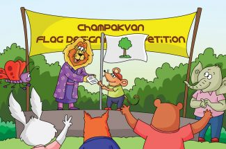 hindi story for kids champakvan ka jhanda