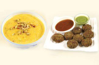 food and recipe matar kabab and kaddu kheer