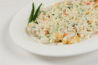recipe in hindi white sauce veg rice