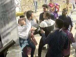 Viramgam polling station two groups beat up