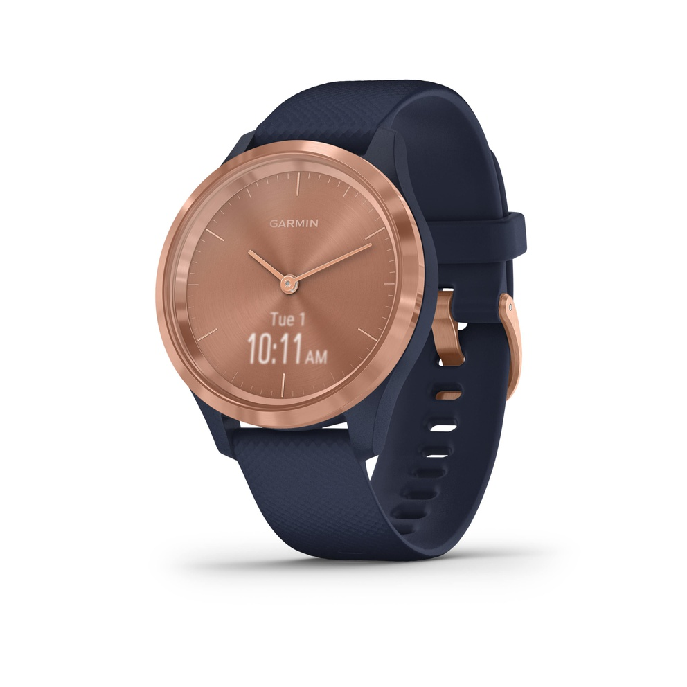 Navy with rose gold