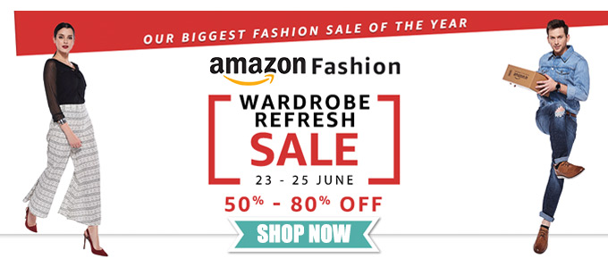 Amazon Fashion: Wardrobe Refresh Sale - Min 50-80% off