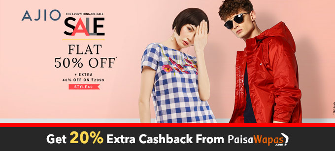 Ajio Everything On Sale :Flat 50% OFF
