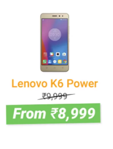 Flipkart The Big Freedom Sale | Lenovo K6 Power