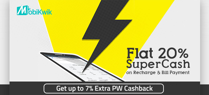 20% Supercash on Mobikwik