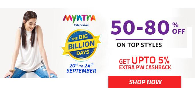 Myntra Celebrates Big Billion Days