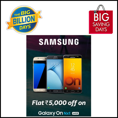 Flipkart Big Billion Days | Offers on Samsung Phones