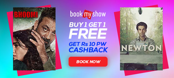 Buy 1 Get 1 Offers On Bookmyshow