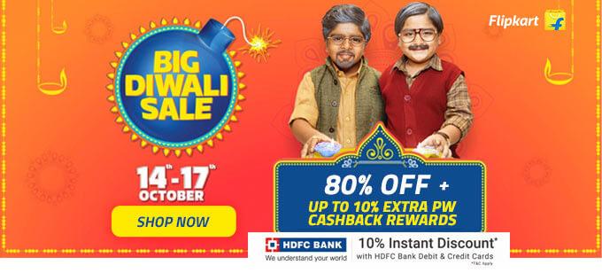 Flipkart Big Diwali Sale Offers