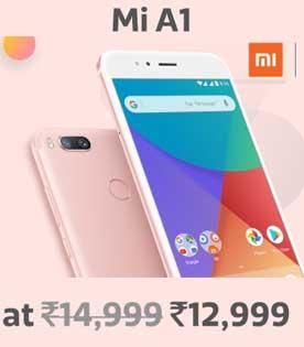 Mi A1 Offer - Buy Mi A1 Dual Camera (4GB+64 GB) Rs.12999 From Dec-7