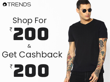 Get Rs.200 Cashback on Orders Above Rs.200!!