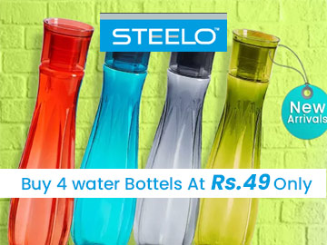 Get Water Bottles for Rs.49/- on Steelo
