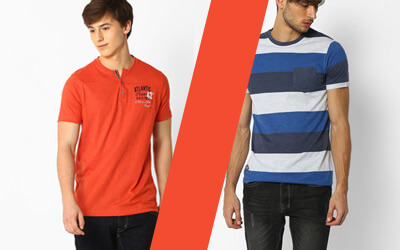 T-shirts At RS.199 + Rs.200 PW Cashback On Every Order