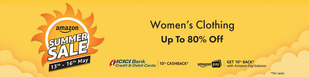 Amazon Great Indian Summer Sale Offers on Women's Clothing - Be the Style Statement