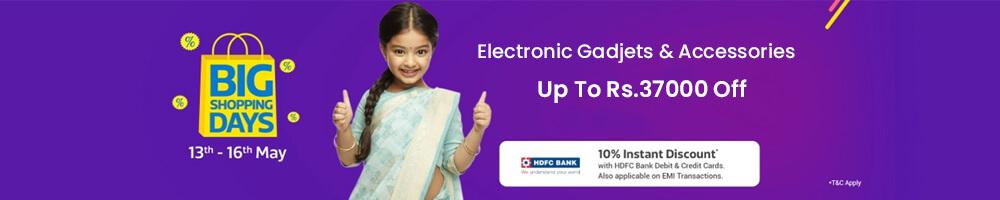 Flipkart Big Shopping Days Offers on Electronics - Offers Aise jo Har Naa Ko Haan mein Badal De!