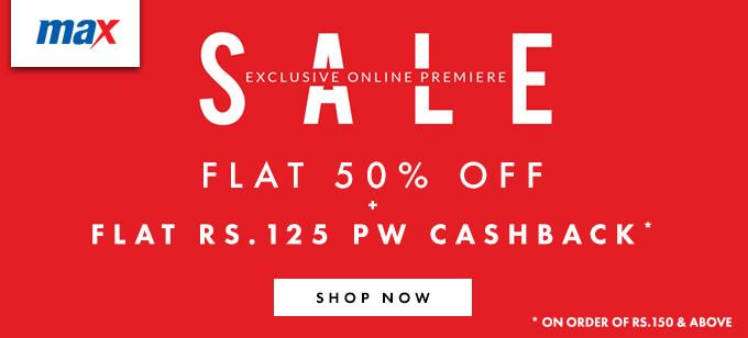 max online exclusive sale