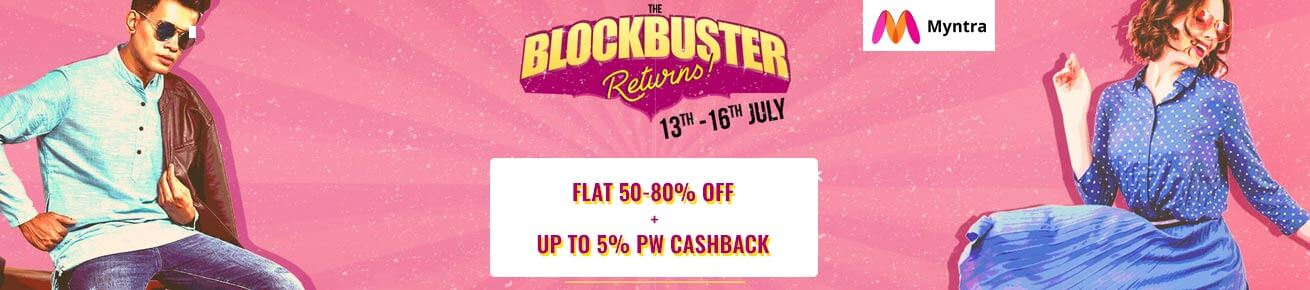 myntra blockbuster sale