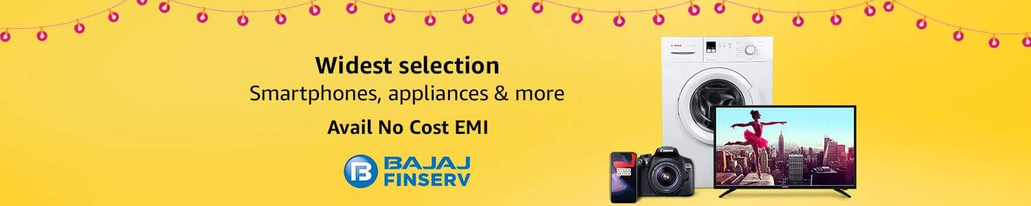Amazon Great Indian Sale Bajaj Finserv No Cost EMI Offers (October 10th -October 15th, 2018)