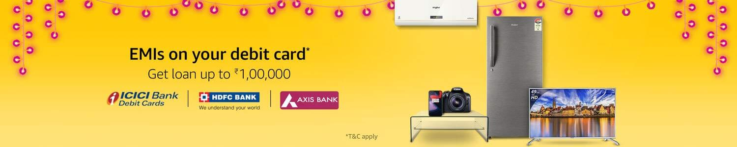 Amazon Great Indian Sale EMIs on Debit Card Offers (October 10th -October 15th, 2018)
