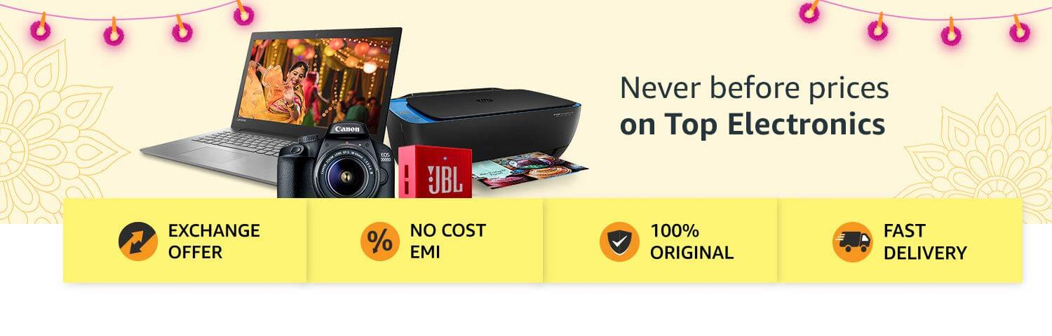 Amazon Great Indian Sale Offers on Electronics (October 10th -October 15th, 2018)