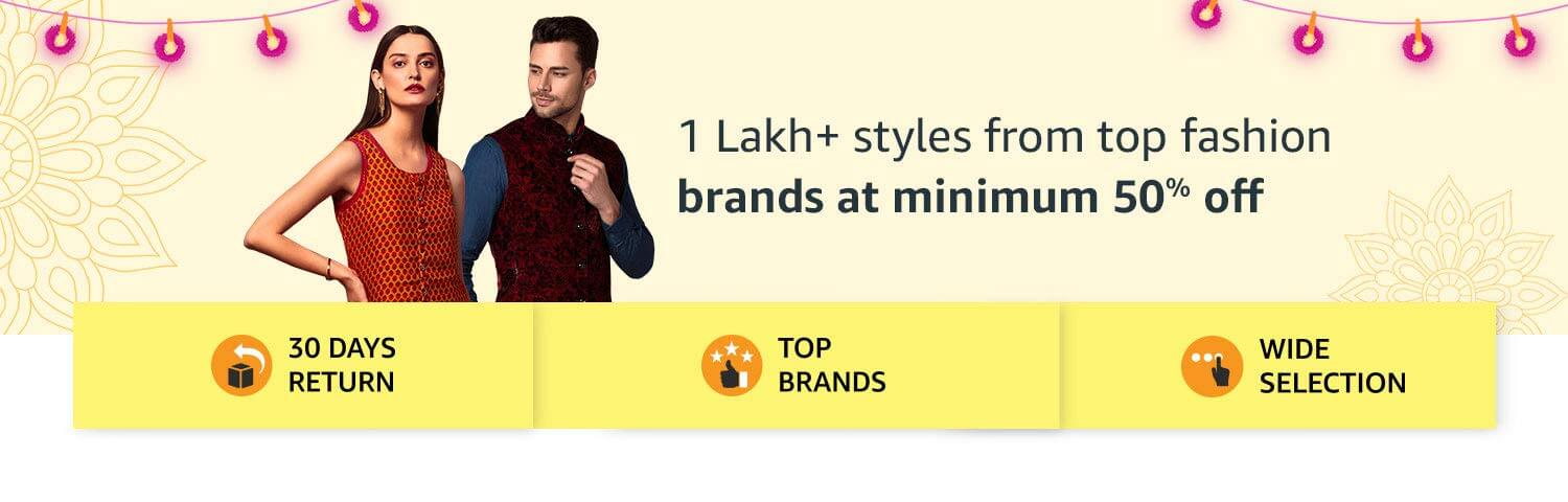 Amazon Great Indian Sale Offers on Fashion, Men Clothing, Women Clothing and Kids Clothing and Fashion Accessories (October 10th -October 15th, 2018)