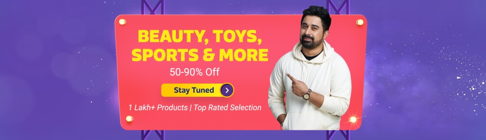 Flipkart Big Billion Days Sale Offers on Beauty, Toys, SPorts and more(October 14th - October 14th 2018)