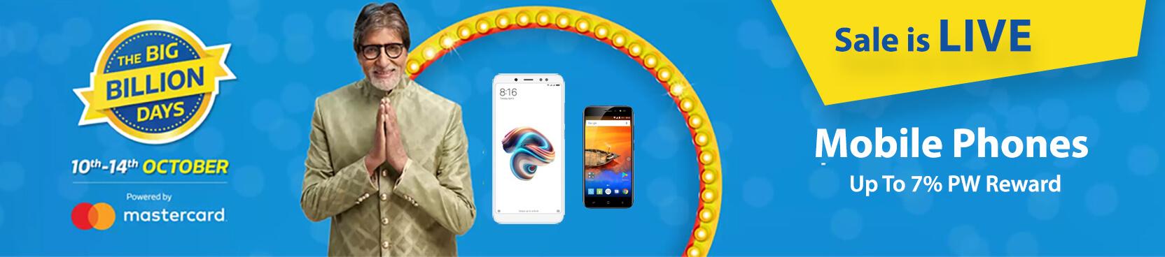 Flipkart Big Billion Days Offers on Mobiles - October 2018