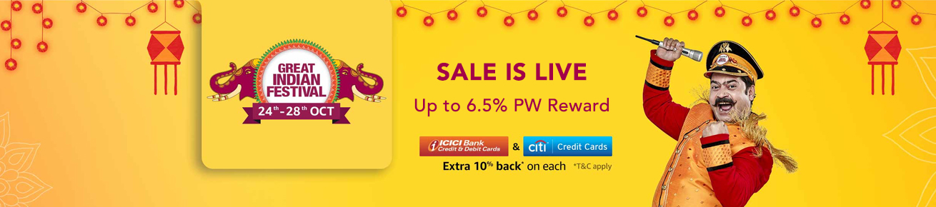 Amazon Great Indian Festival Sale Offers (October 24th - 28th 2018)