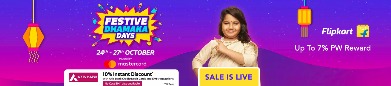 Flipkart Festive Dhamaka Days Offers on Electronics - October 2018