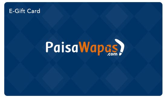 PaisaWapas E -Gift Card