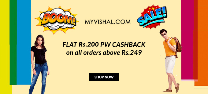BOOM SALE | Flat 50-70% Off on Men's Fashion + Rs.200 PW Cashback on orders Over Rs.249